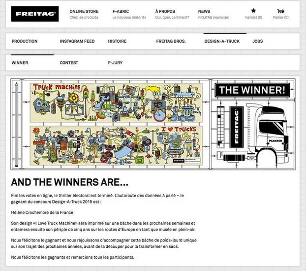 """Le prix du concours """"Design-a-truck"""""""